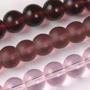 MS-GB241-M Multi-string: round pressed glass beads - 12mm