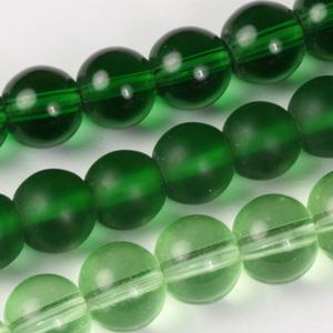 MS-GB243-M Multi-string: round pressed glass beads - 6mm