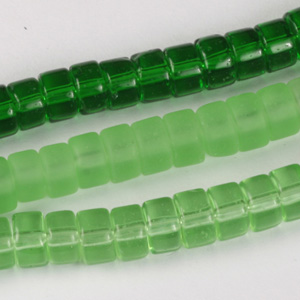 MS-GB245-M Multi-string: rondelle pressed glass beads