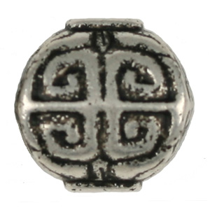 OWB13 - metallised bead - antique silver