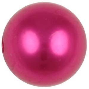P18C bright Chinese round plastic pearls - bright colours