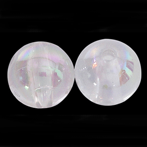 P4C AB chinese round plastic pearls - crystal AB
