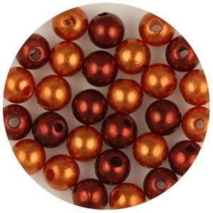 P10C mix Chinese round plastic pearls mix