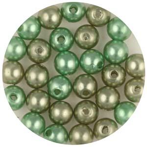 P6C mix Chinese round plastic pearls mix