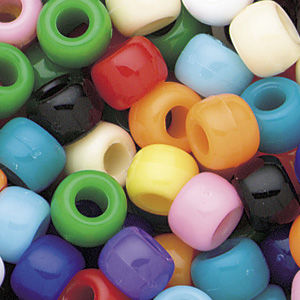PB6 S-M1 - pony beads - opaque mixed colours