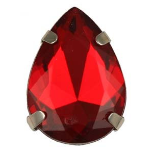 PES49 facetted acrylic stone with mount - pear