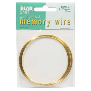 S132-1 memory wire bracelet gold