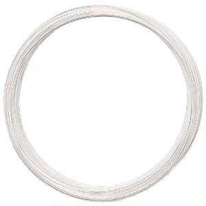 S132-2 memory wire bracelet silver