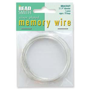 S132L-2 memory wire bracelet silver