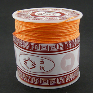 S203 orange Nylon bead cord - orange