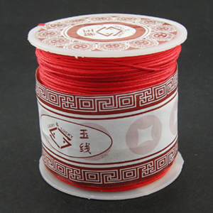 S203 red Nylon bead cord - red