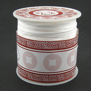 S203 white Nylon bead cord - white