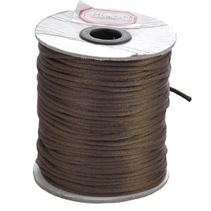 S212 brown Nylon bead cord - brown