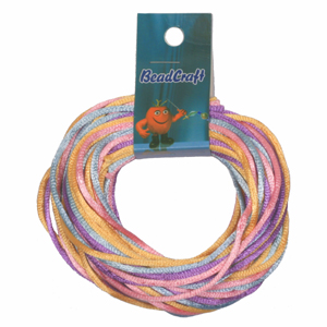 S212-M12 Nylon bead cord - pastels mix