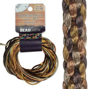 S214-M3 Kumihimo braid: rattail wheatberry mix (4x3 yards)