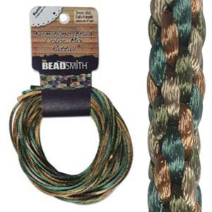 S215-M4 Kumihimo braid: rattail earthtones mix (4x3 yards)