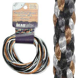 S215-M5 Kumihimo braid: rattail pebblestone mix (4x3 yards)
