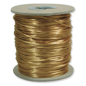 S215 A GOLD Rattail Satin Cord - Antique Gold