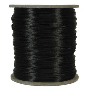 S215 BLACK Rattail Satin Cord - Black