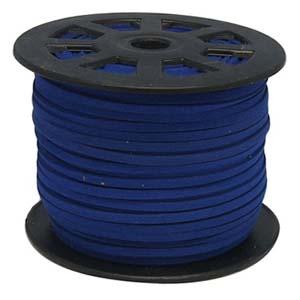 S251 royal faux suede cord - royal blue