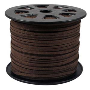 S251 dk brown faux suede cord - dark brown