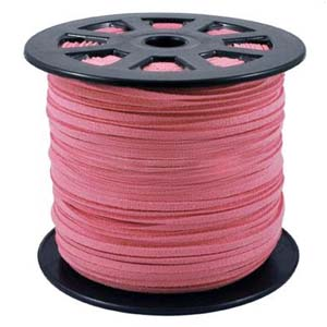 S251 dk pink faux suede cord - dark pink