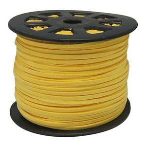 S251 gold faux suede cord - gold