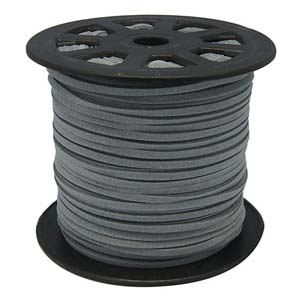 S251 grey faux suede cord - grey