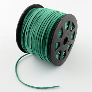 S251 green turq faux suede cord - green turquoise