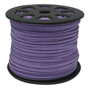 S251 lilac faux suede cord - lilac