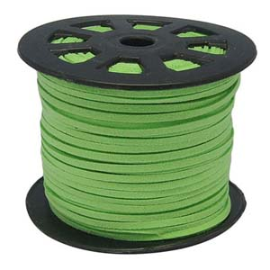 S251 lt green faux suede cord - light green
