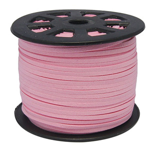 S251 lt pink faux suede cord - light pink