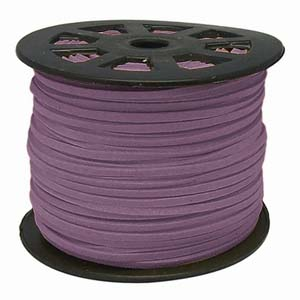 S251 mauve faux suede cord - mauve