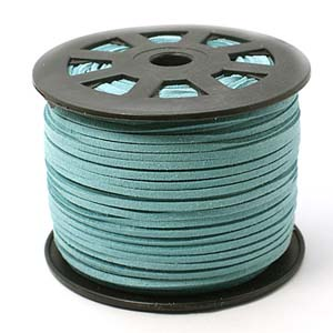 S251 med turq faux suede cord - medium turquoise