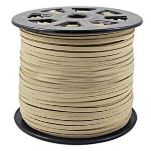 S251 natural faux suede cord - natural