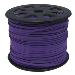 S251 purple faux suede cord - purple