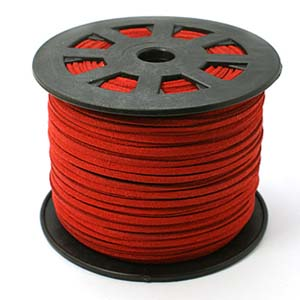S251 red faux suede cord - red