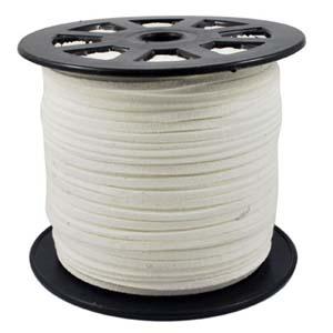 S251 white faux suede cord - white