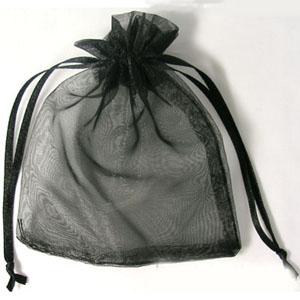 S254 blk organza bags - black