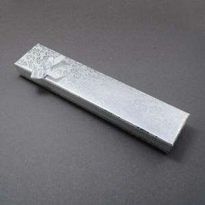 S262 Silver rectangular jewellery box with foam pad