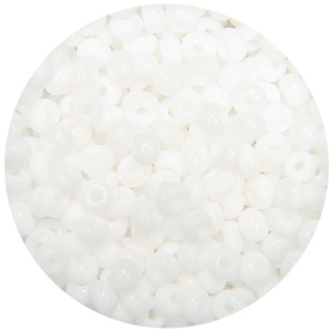 SB7-18 - Czech size 7 seed beads - opaque white