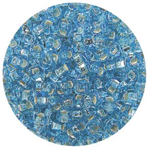 SB10-9 Czech size 10 seed beads, silver lined - light aqua