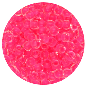 SB11-101&nbsp;Toho seed beads - crystal lined pink fluorescent