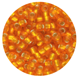 SB11-103 Toho seed beads - silver lined orange matt