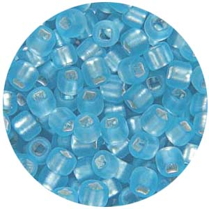 SB11 076M - Matsuno seed beads 11/0 silver lined matt aqua