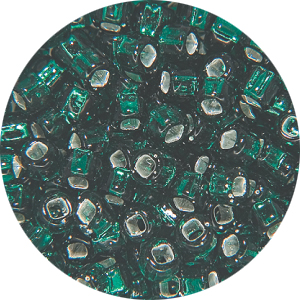 SB11 083Matsuno seed beads - silver lined dark green