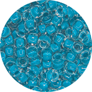 SB11 223 Matsuno seed beads - colour lined turquoise