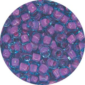 SB11 228Matsuno seed beads - colour lined blue/fuschia