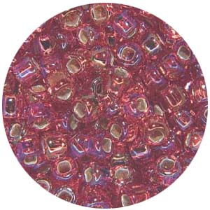 SB11 s/l AB colsMatsuno seed beads 11/0 silver lined AB colours