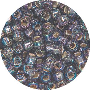 SB11 639Matsuno seed beads - silver lined AB purple
